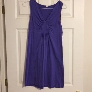 J. Crew Purple Cotton Dress